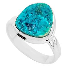 5.54cts natural dioptase 925 sterling silver solitaire ring jewelry size 7 t3327
