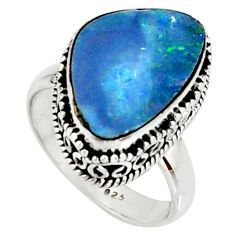 6.62cts natural doublet opal australian 925 silver solitaire ring size 7 r22712