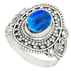 2.44cts natural doublet opal australian 925 silver solitaire ring size 8 r77455