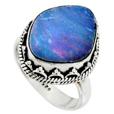 6.46cts natural doublet opal australian silver solitaire ring size 6.5 r22717