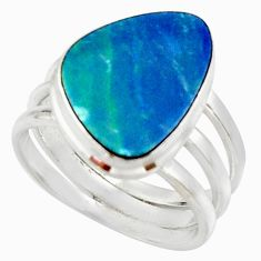 8.02cts natural doublet opal australian silver solitaire ring size 8.5 r22778