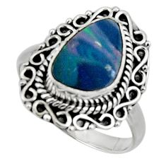 3.68cts natural doublet opal australian silver solitaire ring size 8.5 r47314