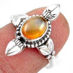 2.03cts natural ethiopian opal 925 sterling silver solitaire ring size 7 r41434