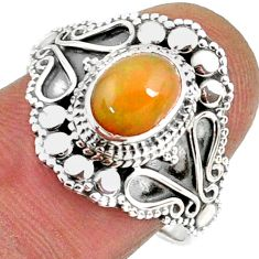 2.02cts natural ethiopian opal 925 sterling silver solitaire ring size 8 r61148