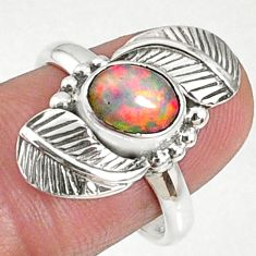 2.02cts natural ethiopian opal 925 sterling silver solitaire ring size 8 r67317