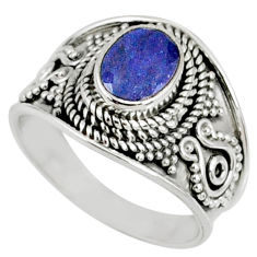 2.19cts natural faceted tanzanite 925 silver solitaire ring size 7.5 r60835