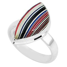6.83cts natural fordite detroit agate 925 silver solitaire ring size 7 r92893