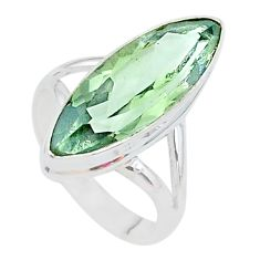 9.98cts natural green amethyst 925 silver solitaire ring jewelry size 6 t11179