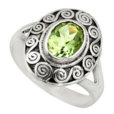 2.20cts natural green amethyst 925 silver solitaire ring jewelry size 8 r40935