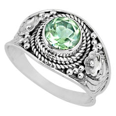 2.53cts natural green amethyst 925 silver solitaire ring jewelry size 9 r58061