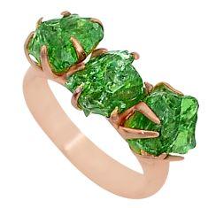 8.46cts natural green apatite (madagascar) 14k rose gold ring size 7 t34992