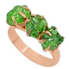 8.78cts natural green apatite (madagascar) 14k rose gold ring size 8 t34989