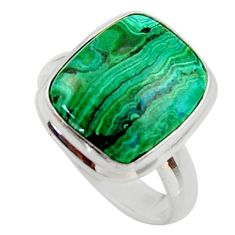 8.25cts natural green azurite malachite 925 sterling silver ring size 7.5 r34779
