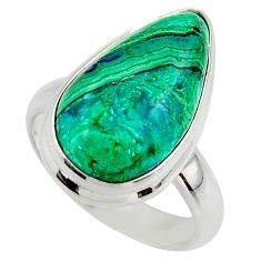 10.33cts natural green azurite malachite 925 sterling silver ring size 7 r42469