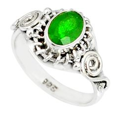 1.43cts natural green chrome diopside 925 silver solitaire ring size 5 r82366