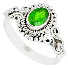 1.46cts natural green chrome diopside 925 silver solitaire ring size 6 r82369