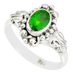1.45cts natural green chrome diopside 925 silver solitaire ring size 7 r82361