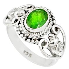 1.50cts natural green chrome diopside 925 silver solitaire ring size 7 r82363