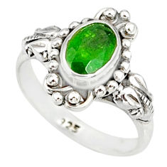 1.53cts natural green chrome diopside 925 silver solitaire ring size 7 r82367