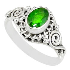 1.49cts natural green chrome diopside 925 silver solitaire ring size 7 r82435