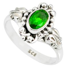 1.51cts natural green chrome diopside 925 silver solitaire ring size 8 r82269