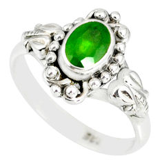 1.53cts natural green chrome diopside 925 silver solitaire ring size 8 r82370