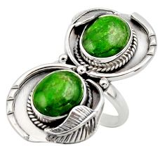 10.31cts natural green chrome diopside 925 sterling silver ring size 8.5 r44421