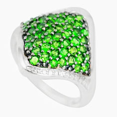 4.38cts natural green chrome diopside 925 sterling silver ring size 8 c20621