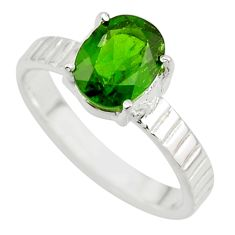 3.06cts natural green chrome diopside 925 sterling silver ring size 8 r43407