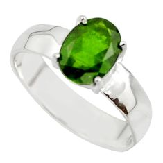 3.04cts natural green chrome diopside 925 sterling silver ring size 8 r43409