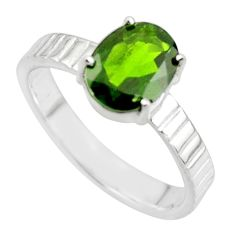 3.38cts natural green chrome diopside 925 sterling silver ring size 8 r43430