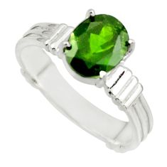 3.04cts natural green chrome diopside 925 sterling silver ring size 8 r43431