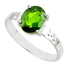 2.96cts natural green chrome diopside 925 sterling silver ring size 9 r43416