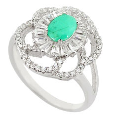 Natural green emerald topaz 925 sterling silver ring size 8.5 c17876