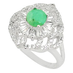 Natural green emerald topaz 925 sterling silver ring jewelry size 6.5 c17889