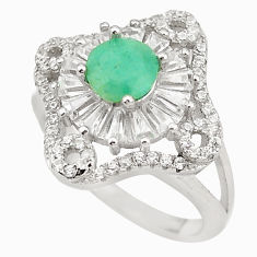Natural green emerald topaz 925 sterling silver ring size 5.5 c17953
