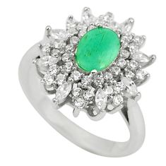 Natural green emerald topaz 925 sterling silver ring size 5.5 c17954