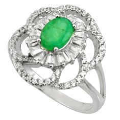 6.02cts natural green emerald topaz 925 sterling silver ring size 8.5 c10010