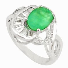 Natural green emerald topaz 925 sterling silver ring size 6.5 c22293