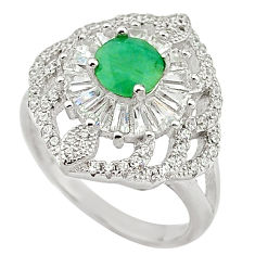 Natural green emerald topaz 925 sterling silver ring jewelry size 6 c17873