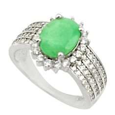 5.63cts natural green emerald topaz 925 sterling silver ring size 6 c9846