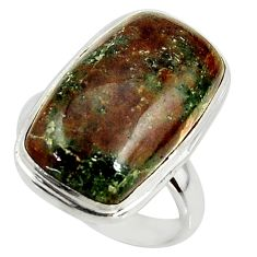 10.84cts natural green grass garnet 925 silver solitaire ring size 6 r39640