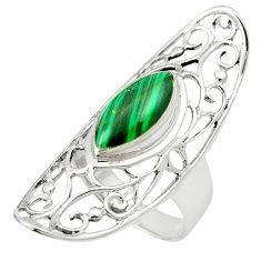 Natural green malachite (pilot's stone) 925 silver ring size 6.5 c12118