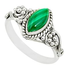 2.21cts natural green malachite 925 silver solitaire ring size 8.5 r82106