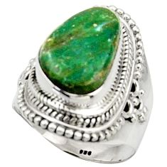 7.76cts natural green opaline 925 silver solitaire ring jewelry size 6.5 d46537