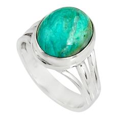 5.16cts natural green opaline 925 silver solitaire ring jewelry size 7 r19394