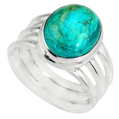 4.71cts natural green opaline 925 silver solitaire ring jewelry size 7 r19399