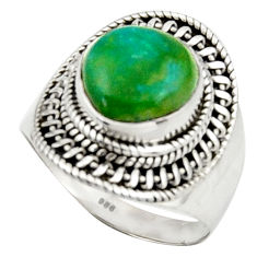 5.97cts natural green opaline 925 silver solitaire ring jewelry size 8 d46538