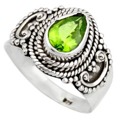 2.23cts natural green peridot 925 silver solitaire ring jewelry size 8 d46468