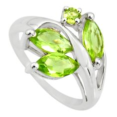 6.03cts natural green peridot 925 sterling silver ring jewelry size 5.5 r25491